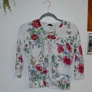 Floral Talbots Cardigan